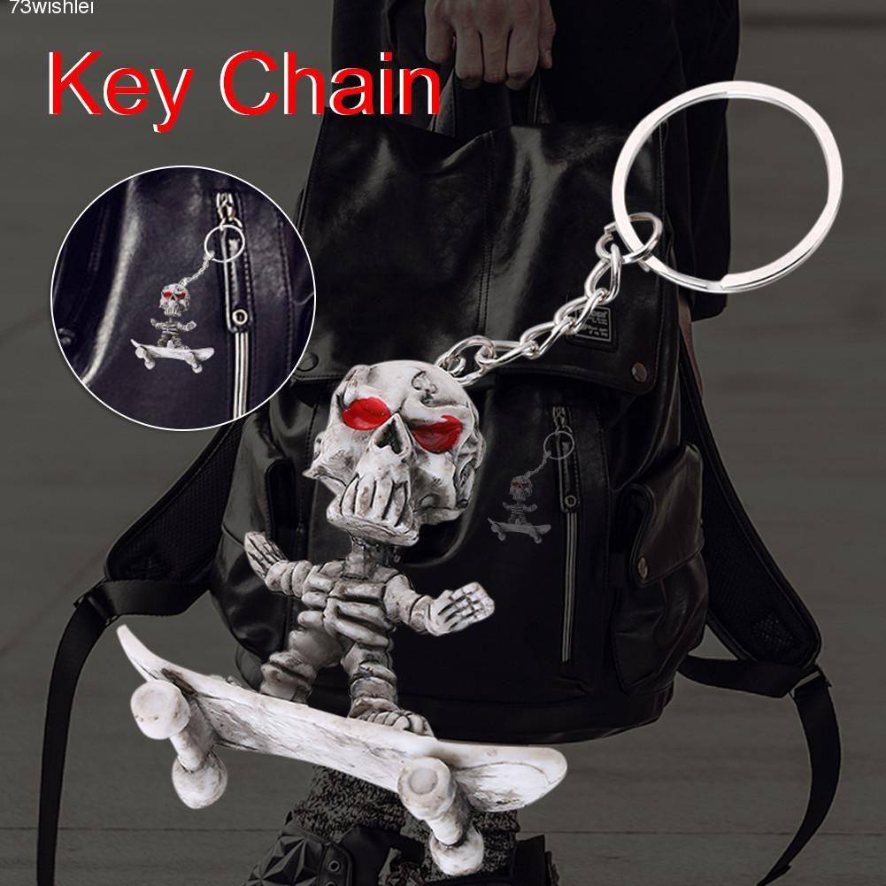Skateboard Key Chain Car Pendant Skeleton Key Ring Innovative Gifts