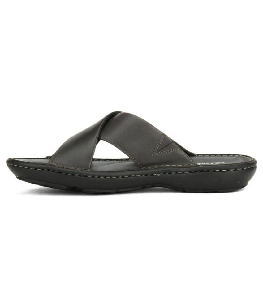 ed77837c3 Clarks Men Gray Leather Sandals Price in India- Buy Clarks Men Gray Leather  Sandals Online at Snapdeal