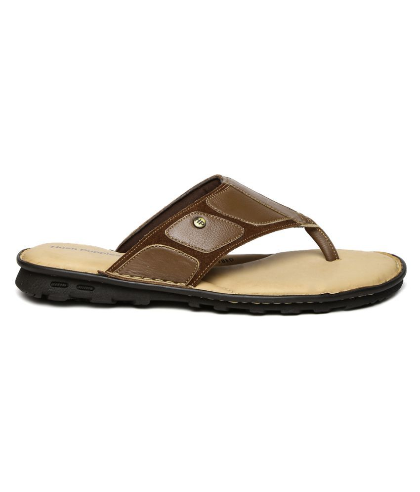 2458388b7 Hush Puppies Men Brown Leather Sandals Price in India- Buy Hush Puppies Men  Brown Leather Sandals Online at Snapdeal