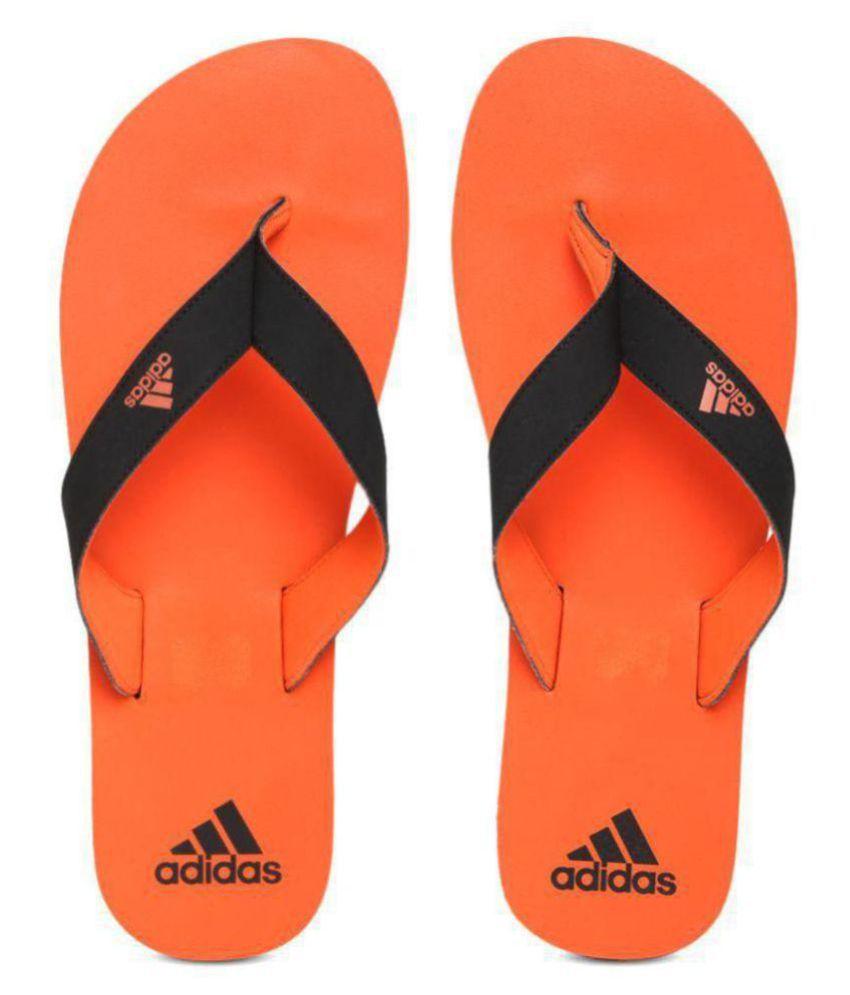 c43c443ea5059 Adidas EZZAY MAX Orange Daily Slippers