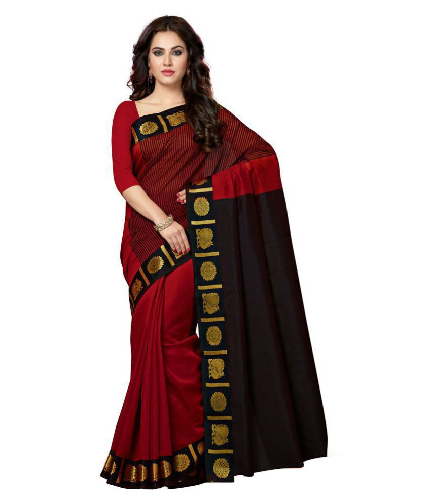 37b8c837d Ishin Red and Brown Chanderi Saree - Buy Ishin Red and Brown Chanderi Saree  Online at Low Price - Snapdeal.com