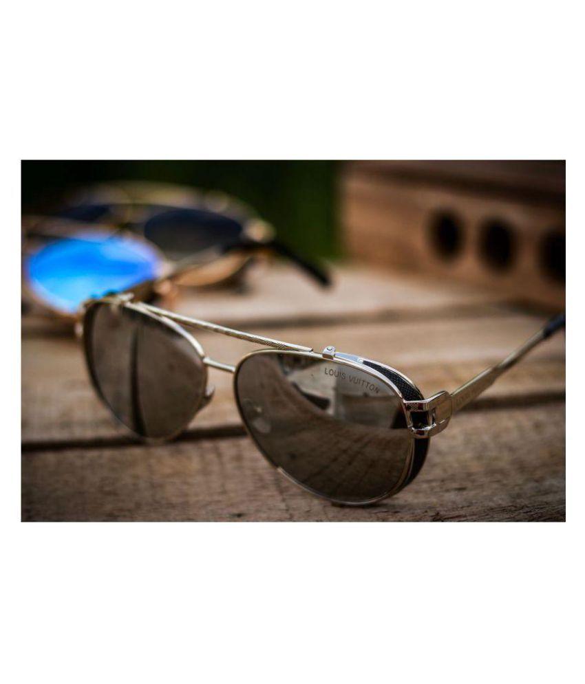 0056e3e879 LOUIS VUITTON SUNGLASSES Silver Aviator Sunglasses ( LV0981 ) - Buy ...