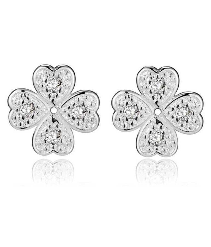 Kamalife Fashion Red Heart Bling Bling Diamond 1 Pair Earings Jewellery