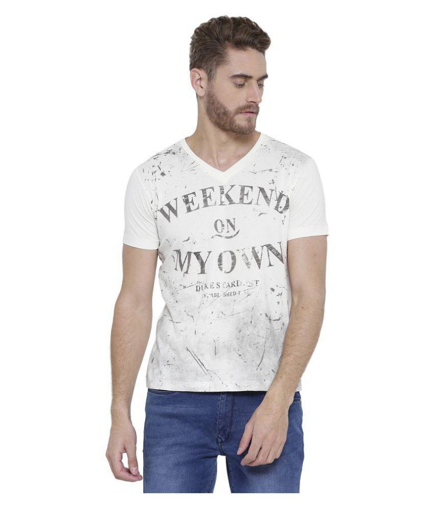 41ce38a95c3 Duke Off-White Half Sleeve T-Shirt - Buy Duke Off-White Half Sleeve T-Shirt  Online at Low Price - Snapdeal.com