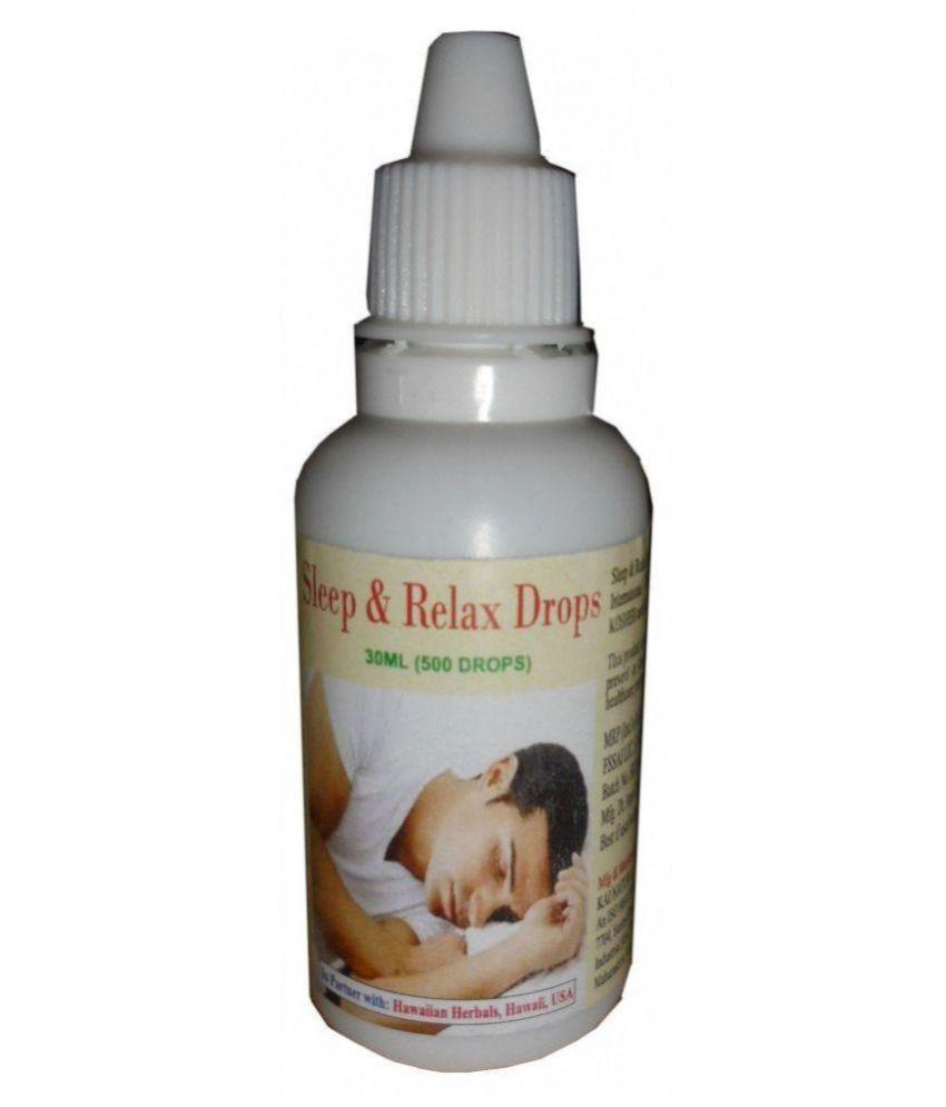 Hawaiian Herbals Sleep & Relax Drops - {BUY ANY HAWAIIAN HERBAL SUPPLEMENT GET  THE SAME 60ML DROPS + DETOX FOOT PADS + 100 GM CHAMAN KISMIS (RAISIN) FREE} 30 ml Minerals Syrup