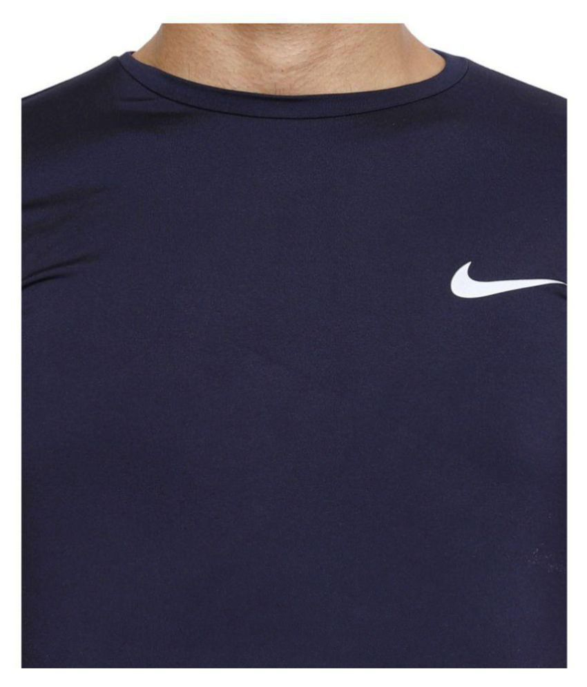 recognized brands factory outlet various styles Nike Blue Half Sleeve T-Shirt