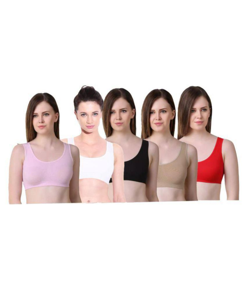 dd358c385 Buy mj store Cotton Lycra Sports Bra - Multi Color Online at Best Prices in  India - Snapdeal
