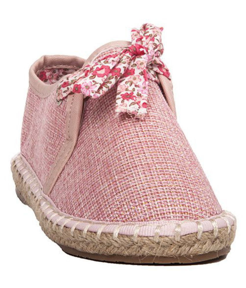 Joy N Fun Lace Up Casual Pink Shoes
