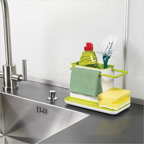 ... 3 in 1 Kitchen Sink Organizer for Dishwasher Liquid Brush Cloth Soap ... & 3 in 1 Kitchen Sink Organizer for Dishwasher Liquid Brush Cloth ...