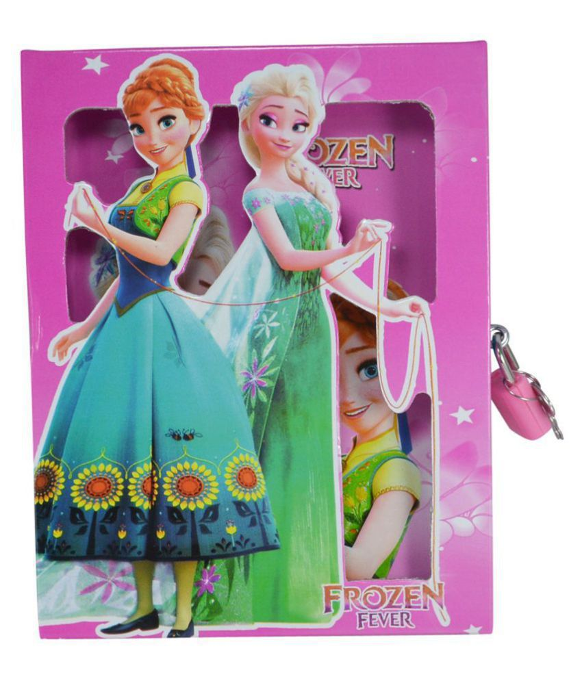 Aarvi Frozen Character Diary With Personal Lock Journal Diary Notebook Case And Key Birthday Return Gift For Kids