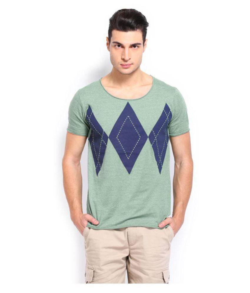 Breakbounce Green Half Sleeve T-Shirt