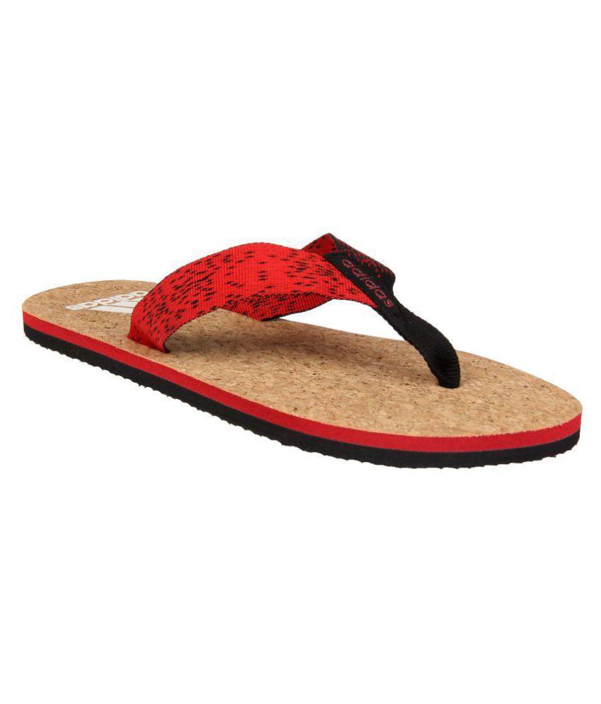 b1a98a5b9d7842 Adidas BEACH CORK Red Thong Flip Flop Price in India- Buy Adidas BEACH CORK  Red Thong Flip Flop Online at Snapdeal