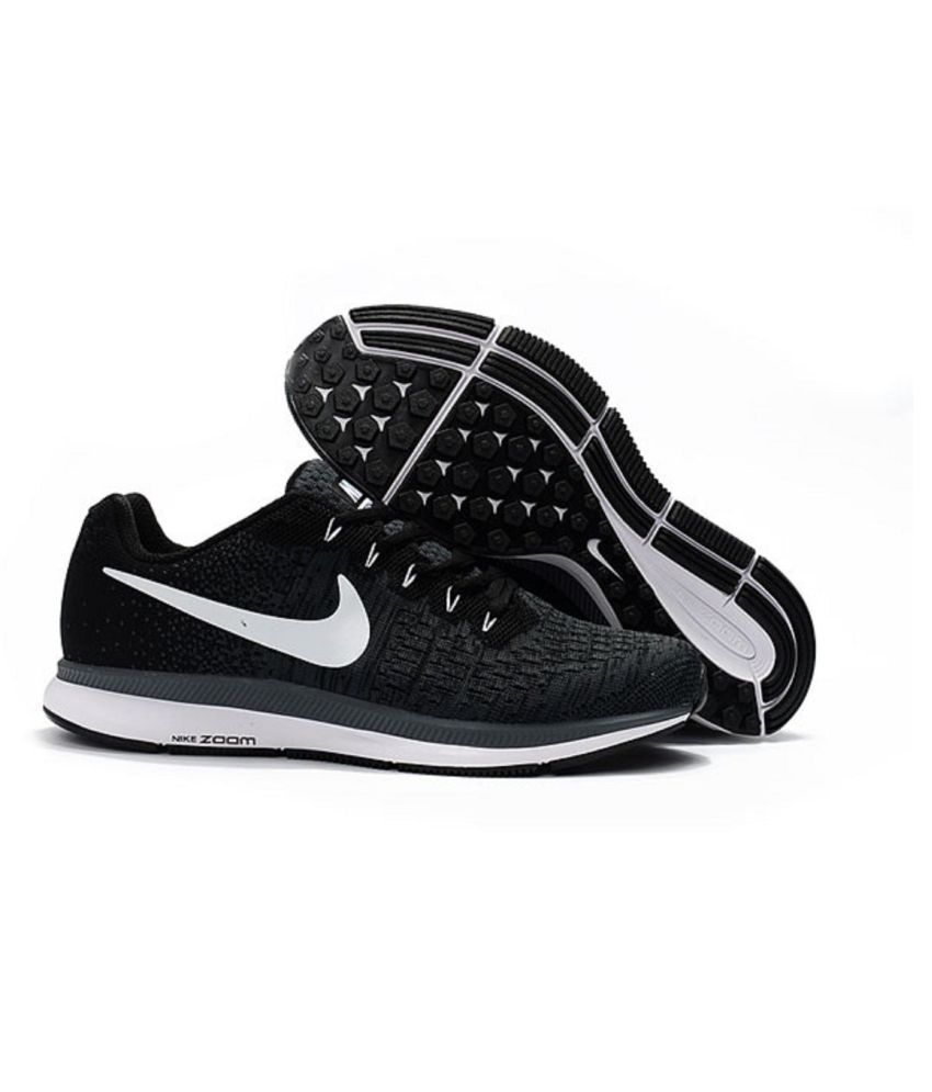 174ca0904dcc Nike Air Zoom Pegasus 33 Black Running Shoes - Buy Nike Air Zoom ...