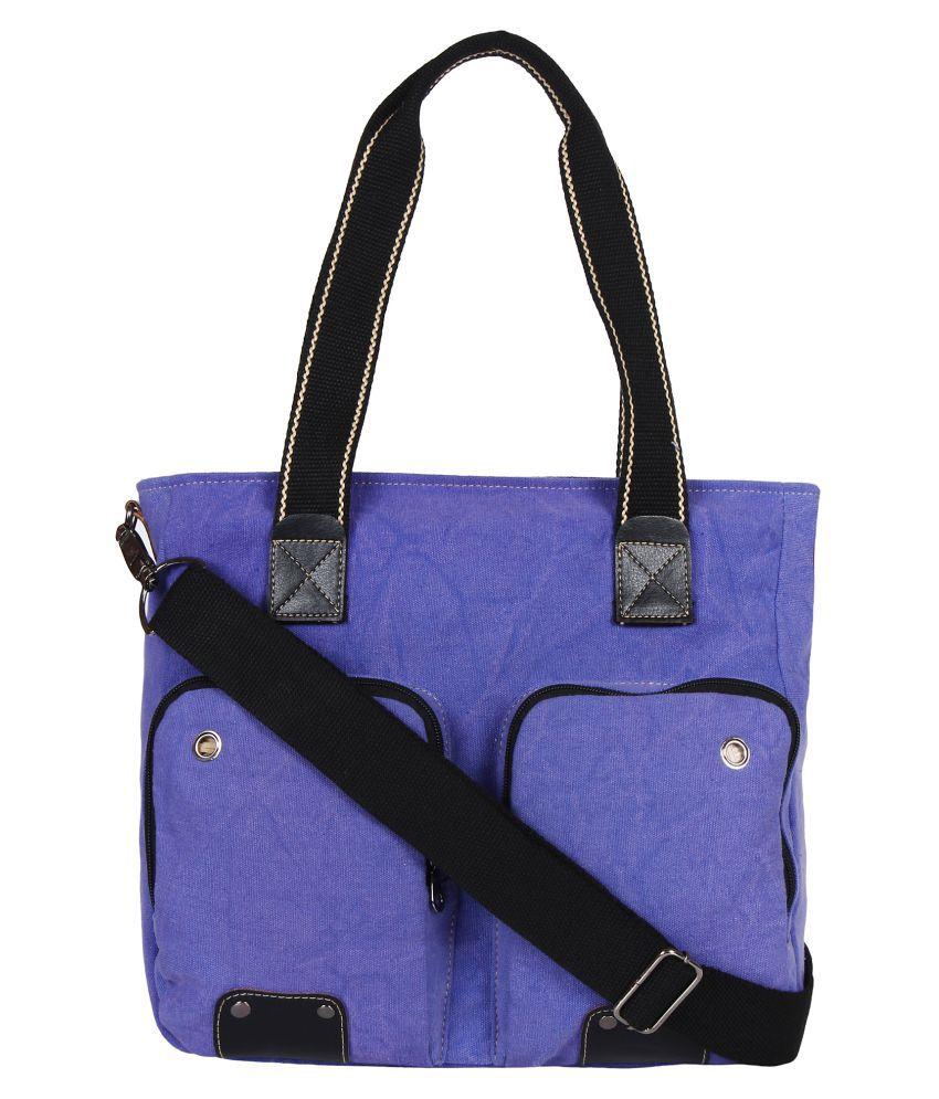 Anekaant Purple Canvas Sling Bag