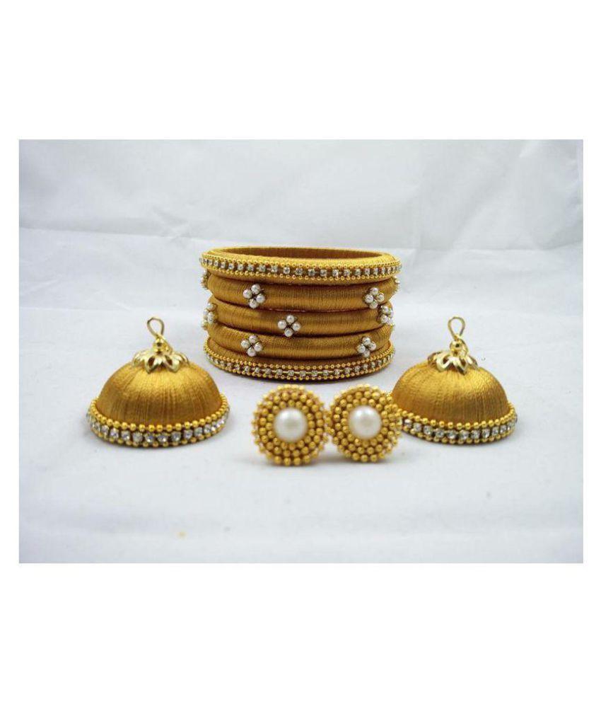 Silk thread handmade stylish bangles for women & girls