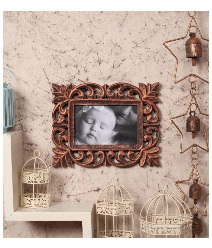 Yatha Wood Brown Single Photo Frame - Pack of 1