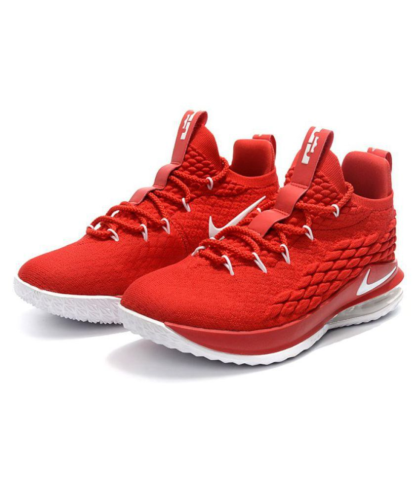 Nike LeBron 15 LOW Red Basketball Shoes ...