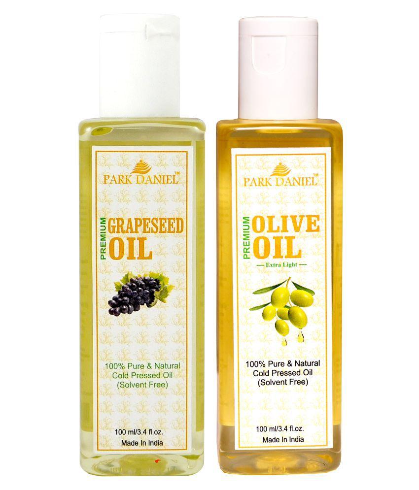 Park Daniel Premium Grapeseed oil & Olive oil Essential Oil 100 ml Pack of 2