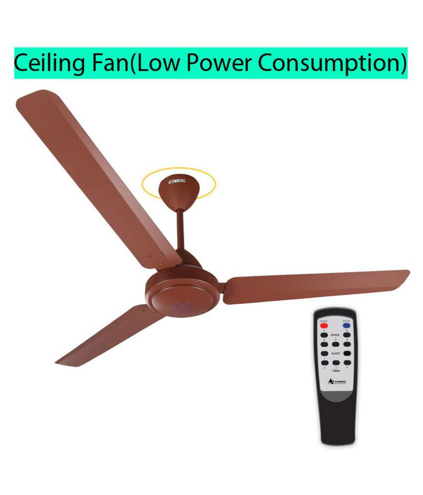 Gorilla Efficio Energy Saving 5 Star Rated, Remote Control and BLDC Motor,1200mm 3 Blade Ceiling Fan (Matte Brown)