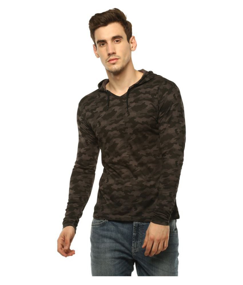 Urbano Fashion Grey Full Sleeve T-Shirt