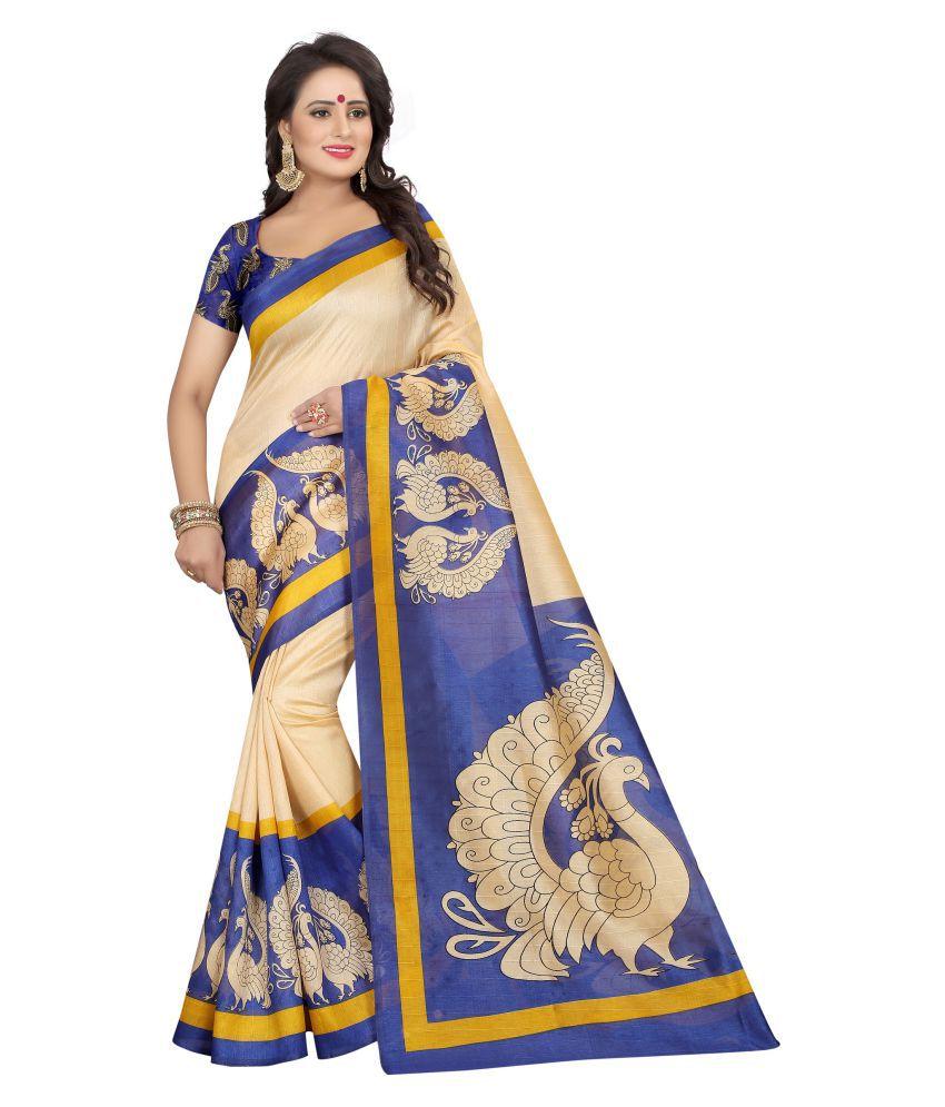 e95d00129d VEDANT VASTRAM Blue and Beige Bhagalpuri Silk Saree - Buy VEDANT VASTRAM  Blue and Beige Bhagalpuri Silk Saree Online at Low Price - Snapdeal.com