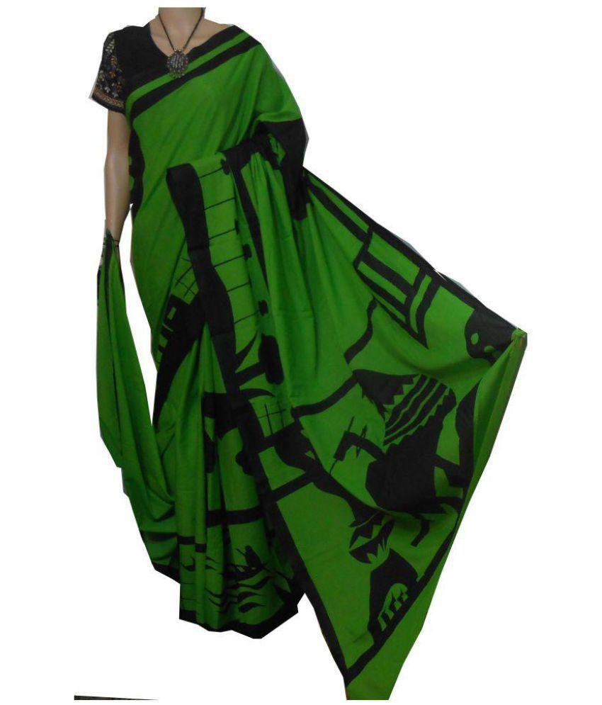 boutique saptaparni Green Cotton Saree Combos