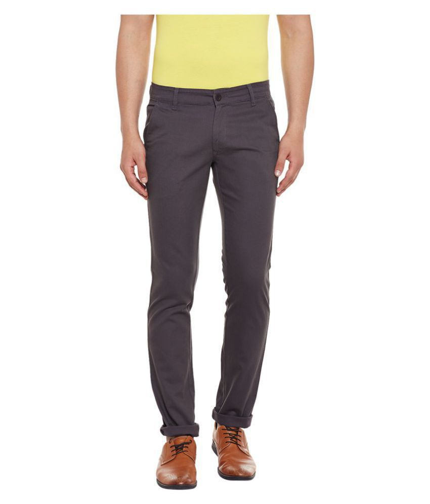Canary London Grey Tapered -Fit Flat Chinos