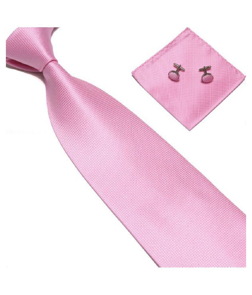 Kamalife Pink Printed Polyester Necktie