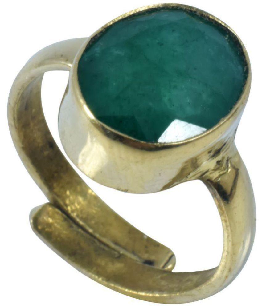 Panna  ( Green Emerald  ) 100% Gemstone Adjustable Ring of 3.5  Carat