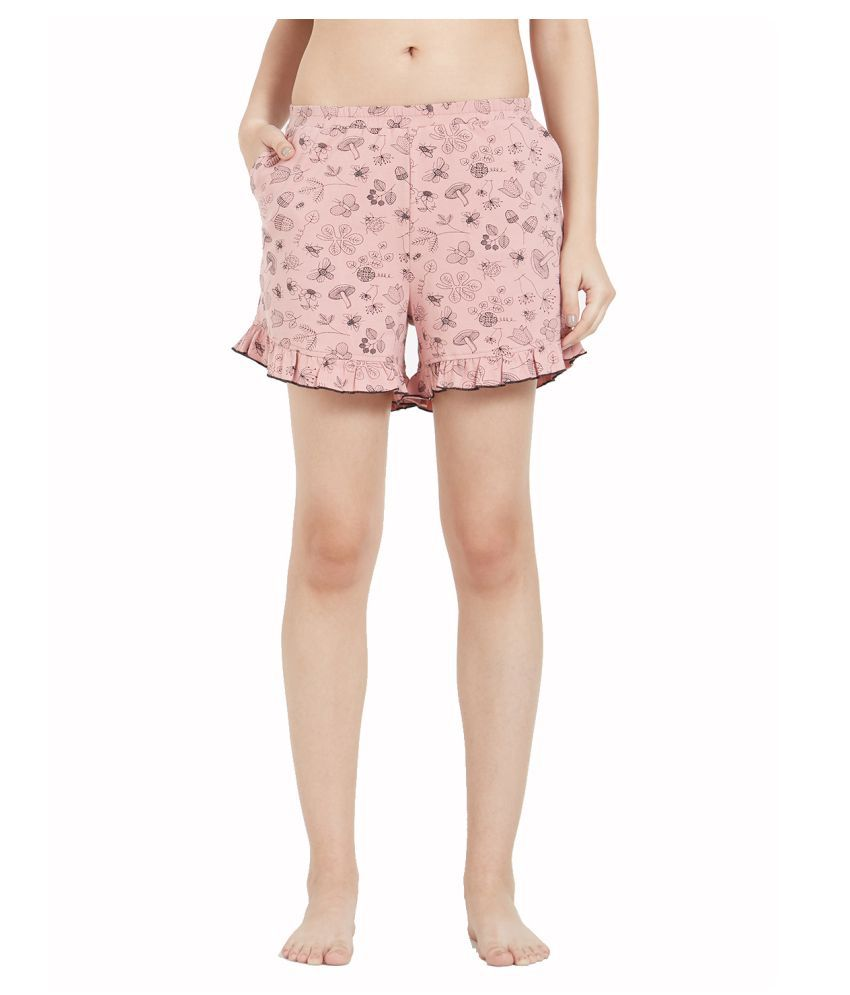 21b96f7158 Buy Mystère Paris Cotton Night Shorts - Pink Online at Best Prices ...
