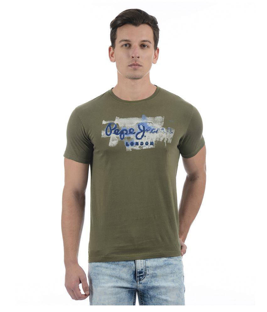 Pepe Jeans Green Half Sleeve T-Shirt