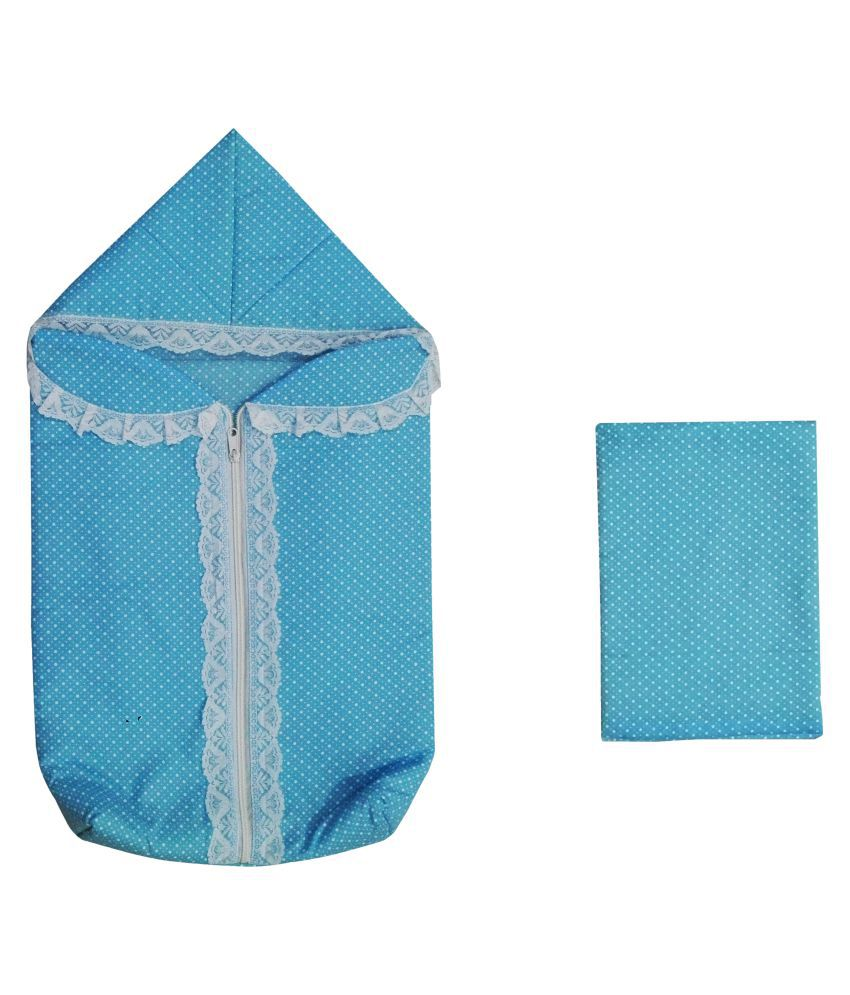 Baby Comforts Blue Cotton Sleeping Bags ( 74 cm × 42 cm)