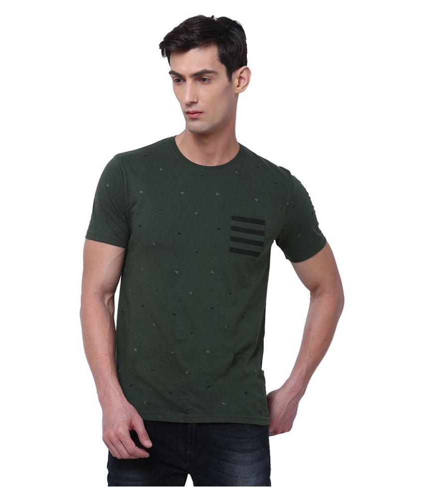 Locomotive Green Half Sleeve T-Shirt Pack of 1