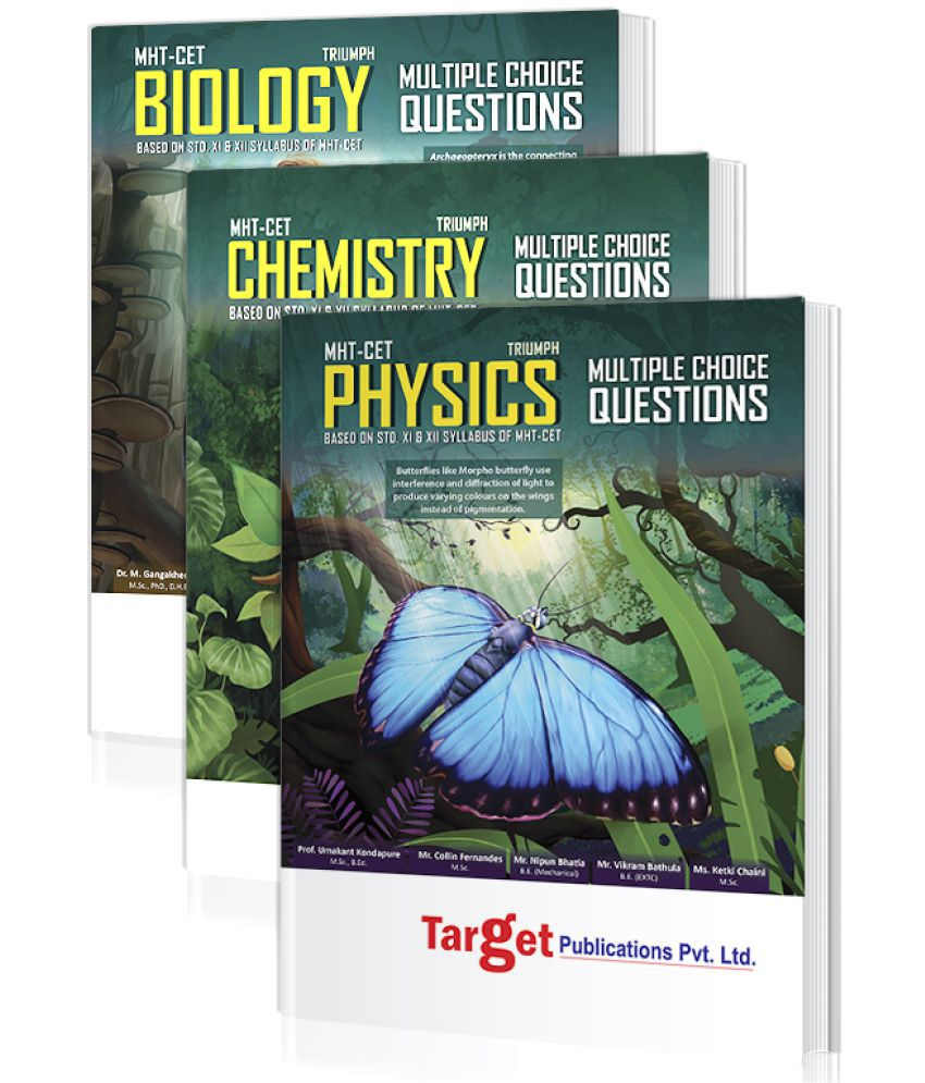 MHT-CET Triumph Physics, Chemistry and Biology (PCB) Books Combo for 2020 Pharmacy Entrance Exam   Based on 11th and 12th Syllabus of Maharashtra State Board   Includes Chapterwise MCQs, 2019 Question Paper and Model Papers   3 Books