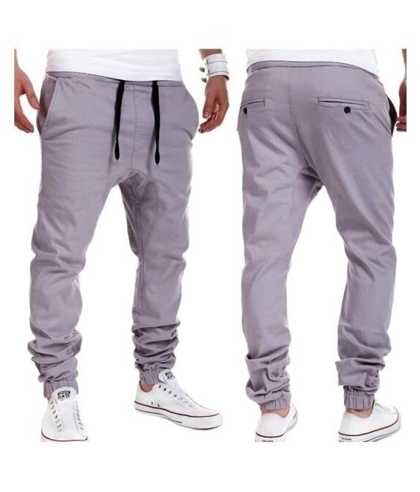 Changing Destiny Grey Tapered -Fit Flat Trousers