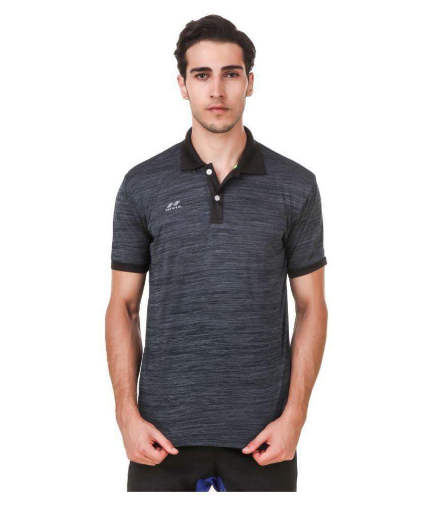 Nivia Grey Polyester T-Shirt-2245S-3