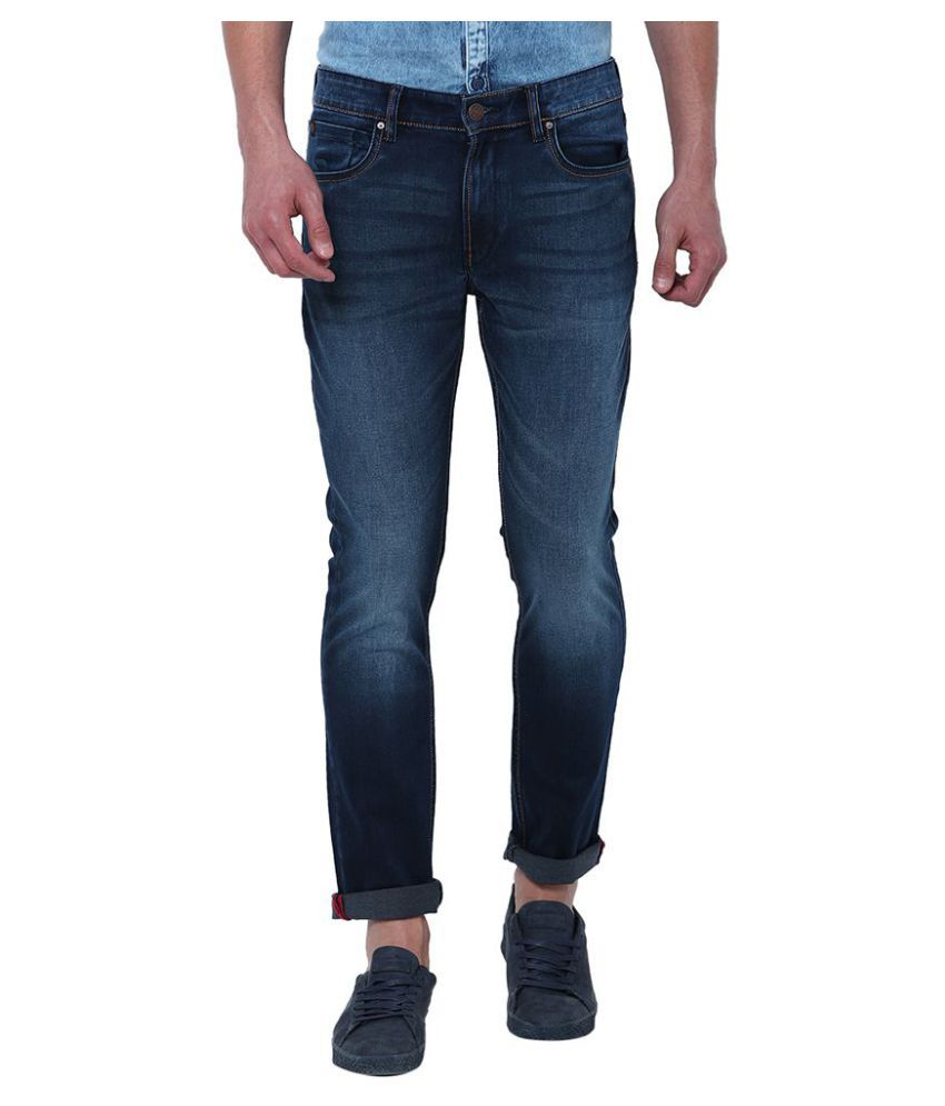 Locomotive Navy Blue Slim Jeans