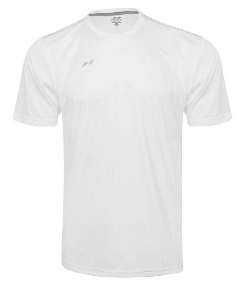 Nivia White Polyester Jersey-2205XL1
