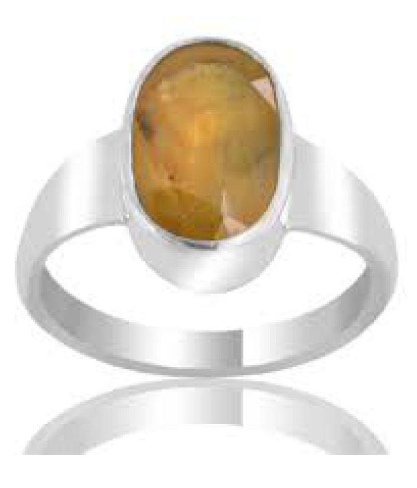 Jaipur Gemstone 92.5 Silver Sapphire Ring