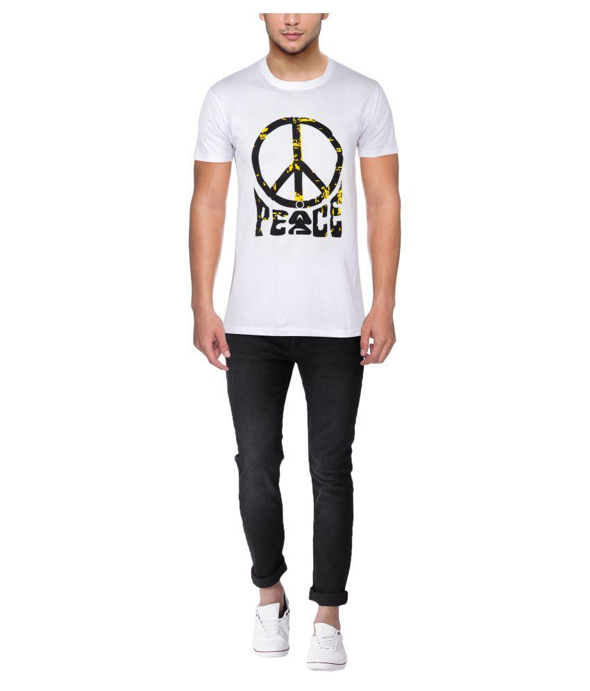 Seraphic White Half Sleeve T-Shirt Pack of 1
