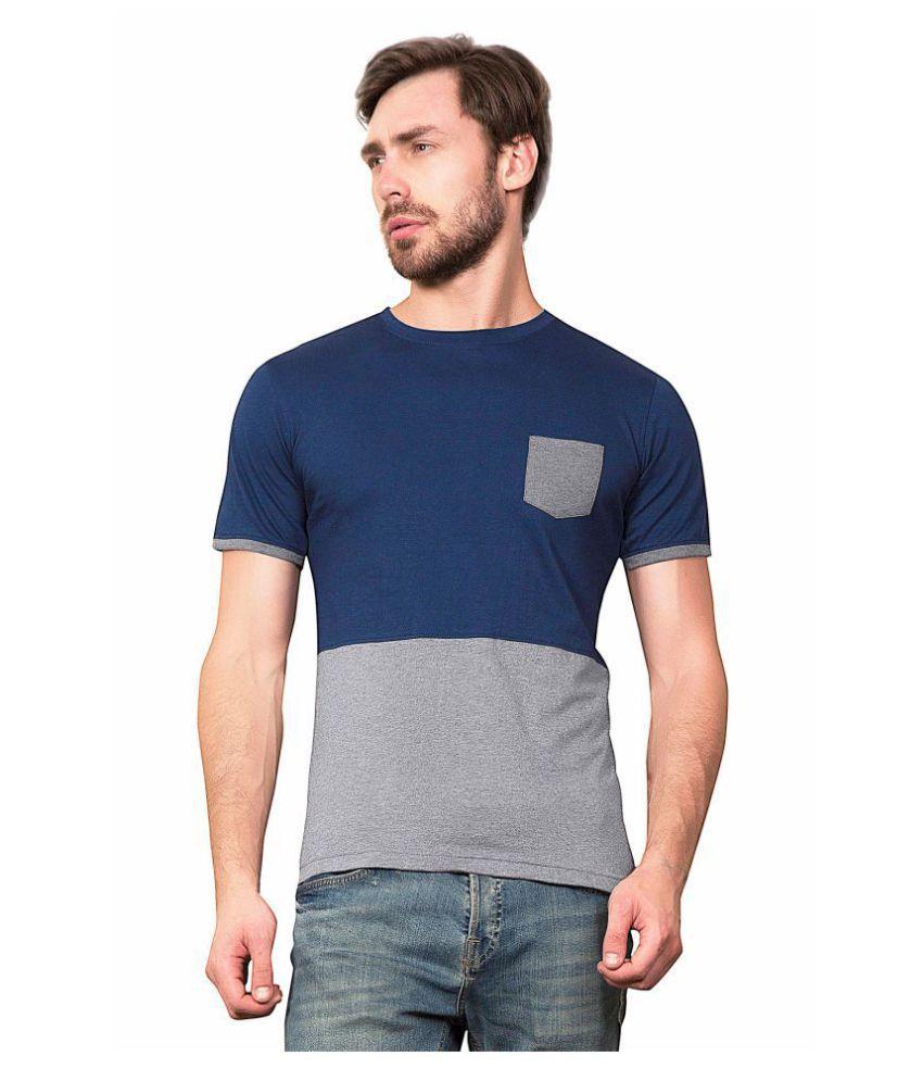 Maniac Navy Half Sleeve T-Shirt