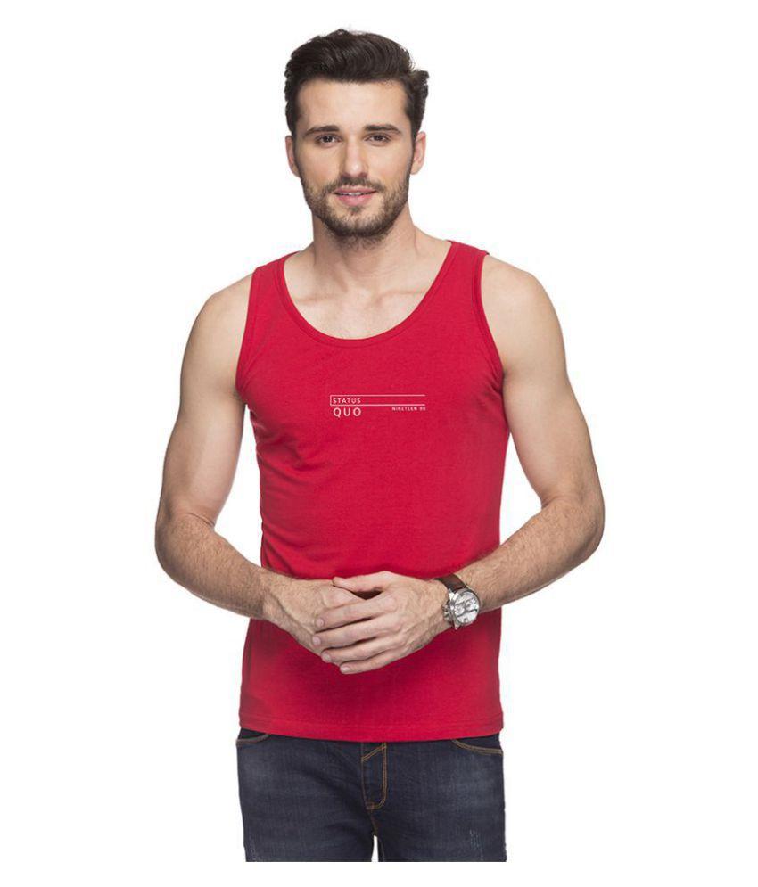 Status Quo Red Sleeveless T-Shirt