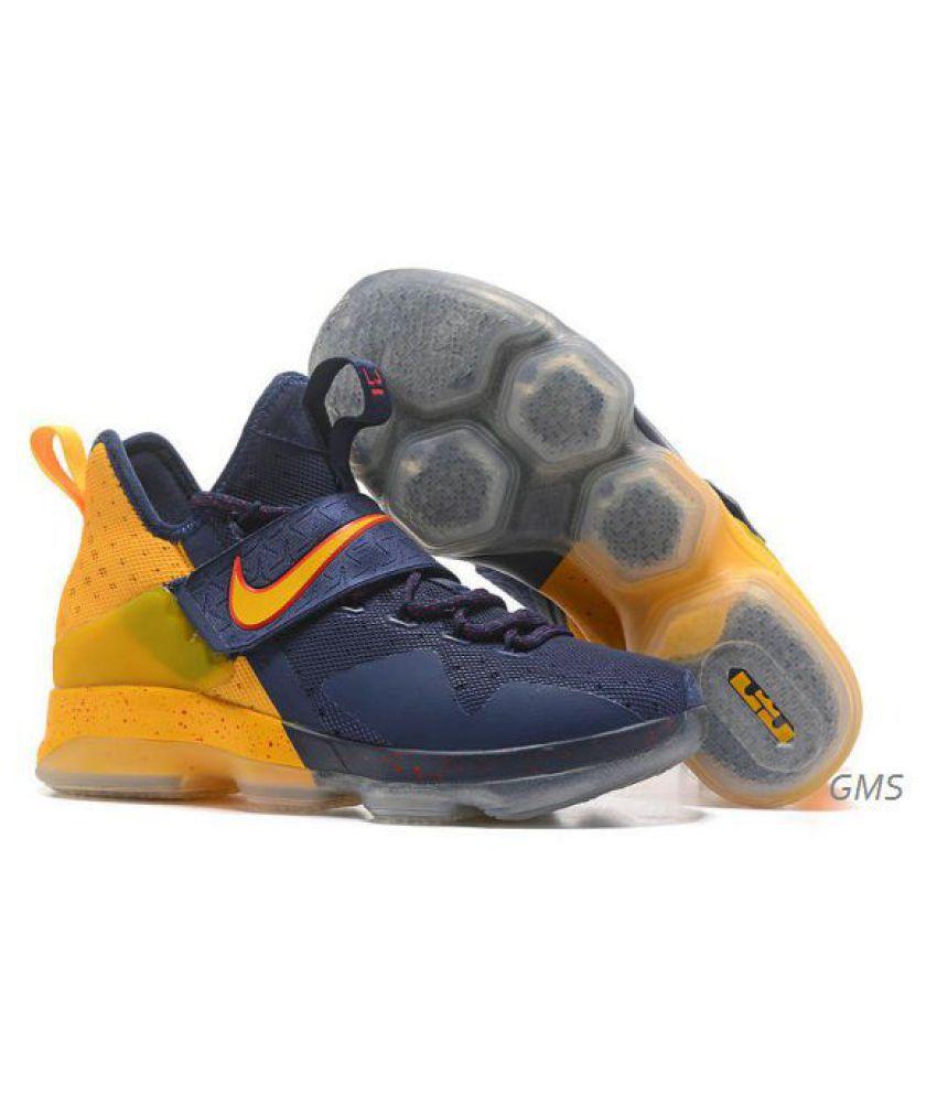 4549bbbe631 Nike LeBron 14 Yellow Running Shoes - Buy Nike LeBron 14 Yellow ...