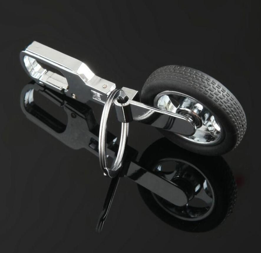 Creative Funny Auto Racing Tire Models Charming Key Chain Key Ring Accessories KEY #xh365#