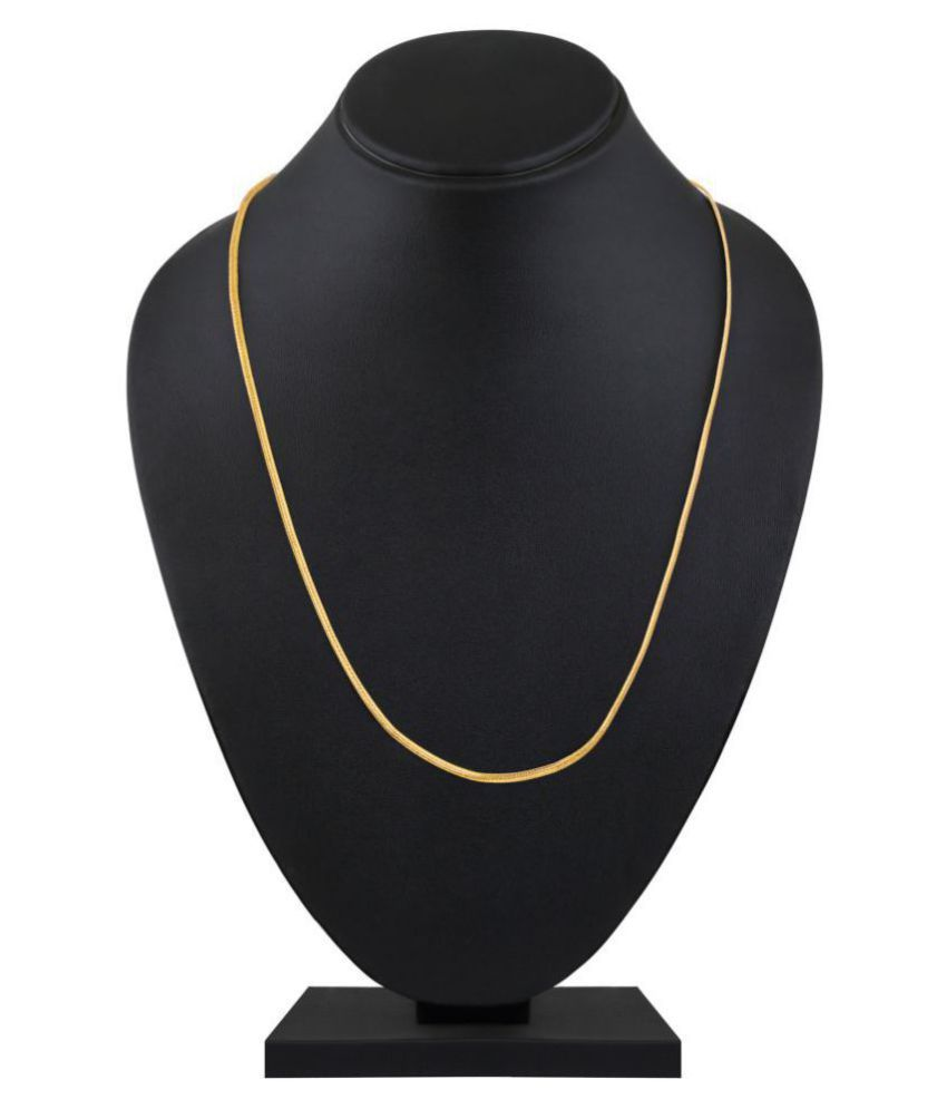 Asmitta Lavish Party Wear Gold Plated Copper Chain For Unisex