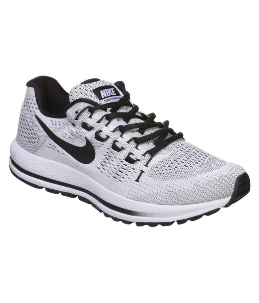 33320d0a0d354 Nike ZOOM VOMERO 12 White Running Shoes - Buy Nike ZOOM VOMERO 12 White  Running Shoes Online at Best Prices in India on Snapdeal