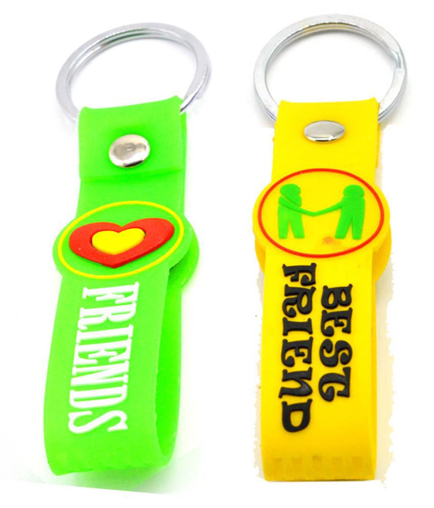 Faynci Friends Double Sided Silicone Green/Yellow collectible Keychain Gift for Frenship Day