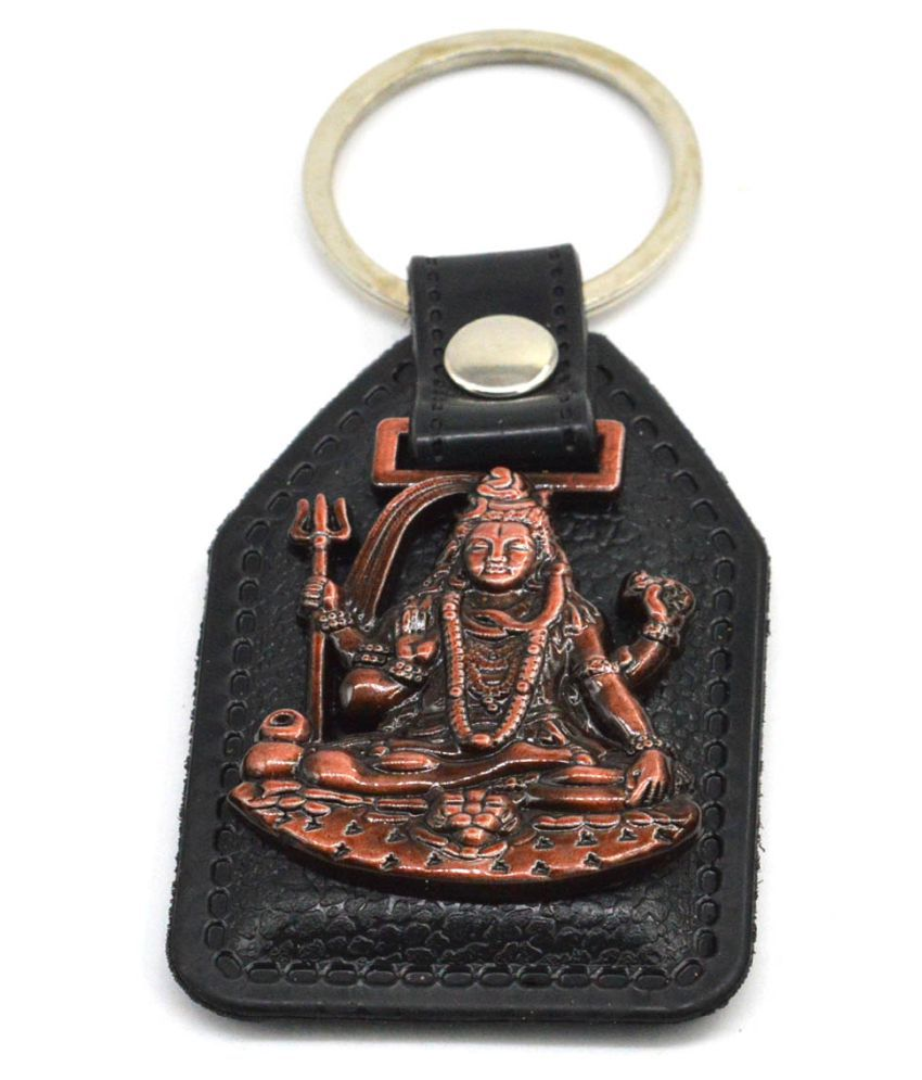Faynci God Lord Shiva (Bholenath) Antique Copper Key Chain for Good luck/Gifting Family member and Friends