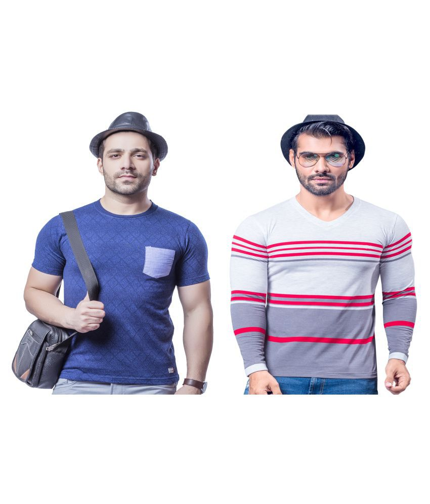 KUNDAN SULZ GWALIOR Red Full Sleeve T-Shirt Pack of 2
