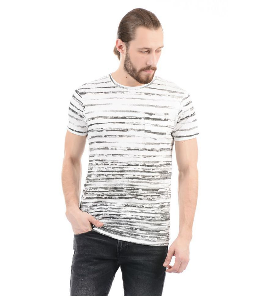 Pepe Jeans Off-White Half Sleeve T-Shirt